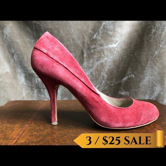 Steve Madden Red Suede Heels - Size 8.5